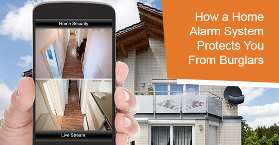 How a home alarm system protects you from burglars